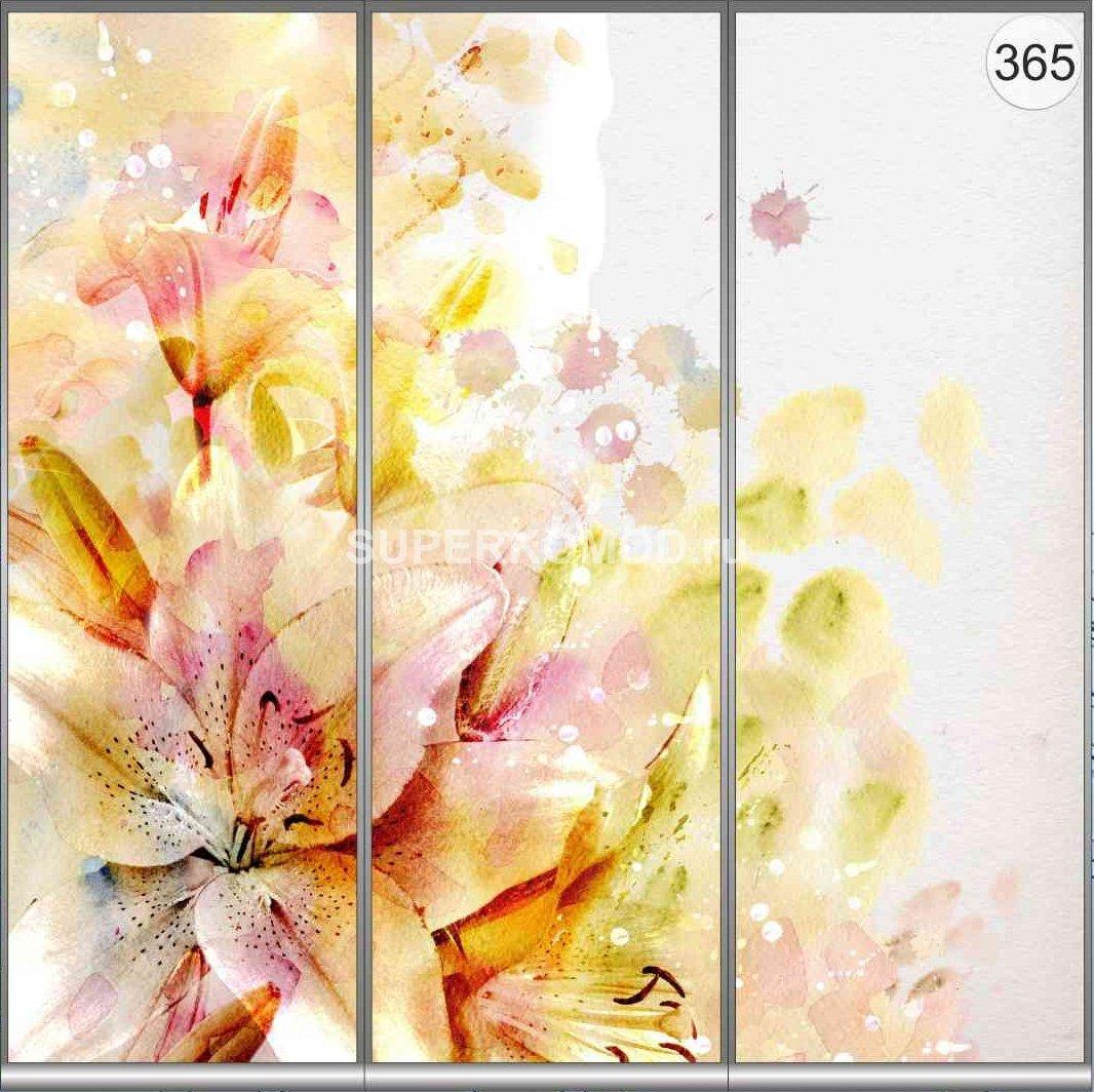 фотопечать на шкаф купе цветы 365