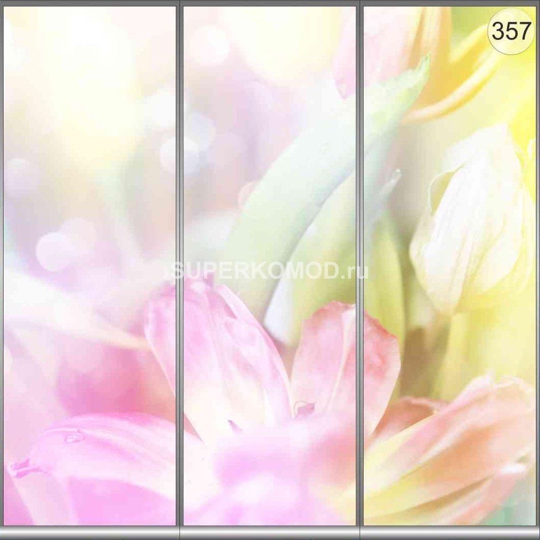 Фотопечать цветы на шкафы купе